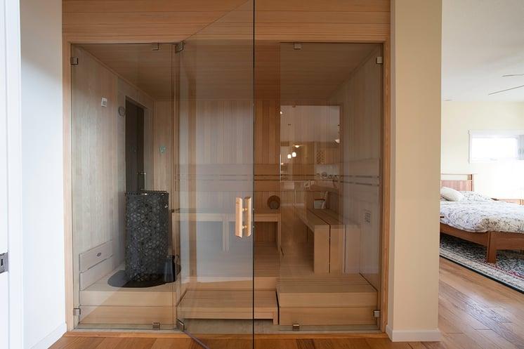 Adair Homes Custom Sauna Master Bedroom