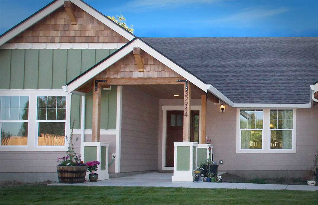 Exterior view of an ADA compliant home floorplan