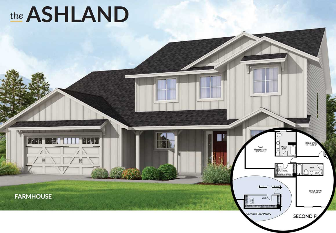 5 Floor Plans with Dual Master Suites on duplex home plans, split foyer home plans, high ceilings home plans, 2 story home plans, vaulted ceiling home plans,