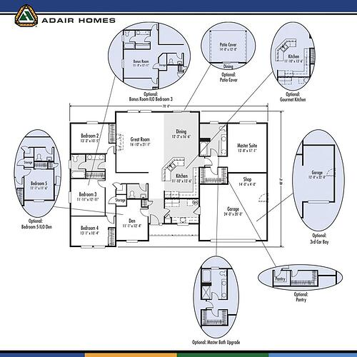 4 Single Story Plans With Bonus Room