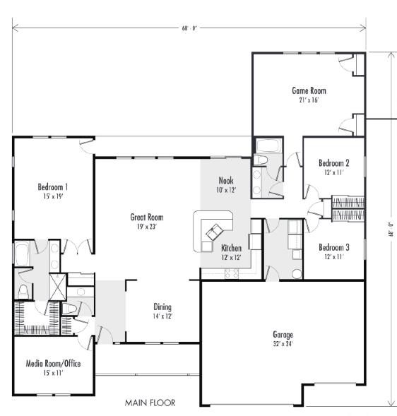 3 Ranch Style Custom Home Plans Over 2 000 Square Feet