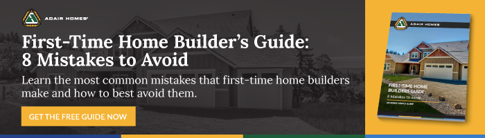 first time home builder guide